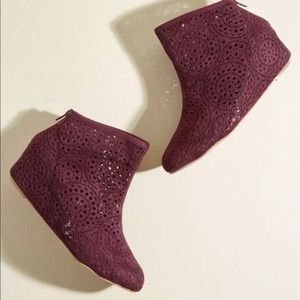 N.Y.L.A. Cutout Wedge Booties Boots ModCloth 10